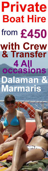 hire a private boat trip with crew n marmaris and dalaman area