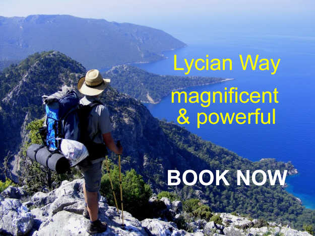 book now for lycian way trekking and hiking tour